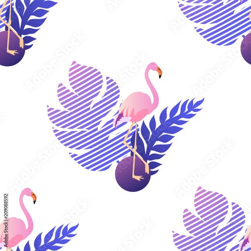 modny-zwrotnik-flamingo-wzor-z-lisci-drzewa-palmowego-wektorowa-ilustracja-egzotyczny