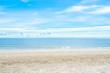Tropical beach in morning at Huahin, Thailand