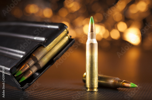 Canvastavla M855 ammo and magazine