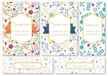 花のカードセット