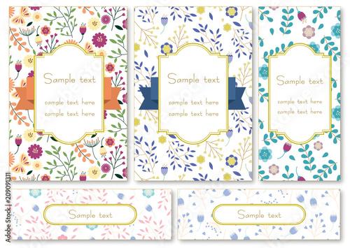Foto  花のカードセット
