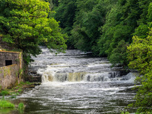 Waterfalls At The New Lanark W...