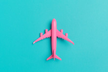 Model Plane,airplane On Pastel Color Background.