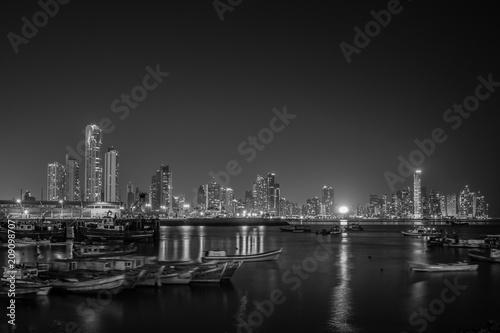 Fototapety, obrazy: Panama City panorama at night - Cityscape skyline