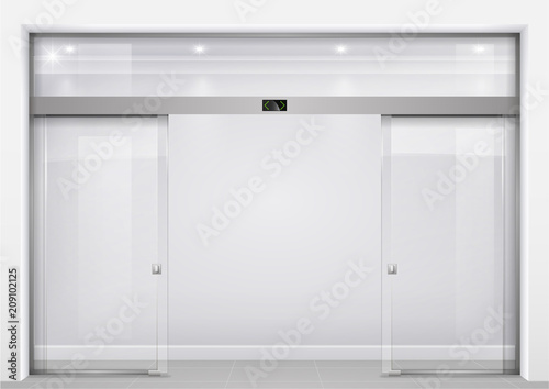 Fotomural Automatic glass doors