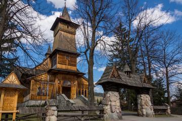 Wooden church in Koscielisko near Zakopane, Malopolska , Poland