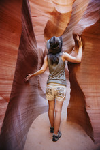 USA, Arizona, Woman With Cowbo...