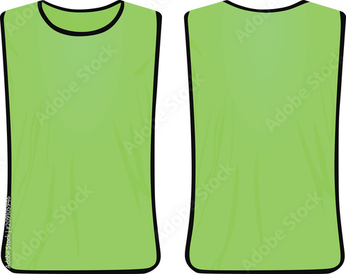 Fotomural Green safety vest. vector illustration