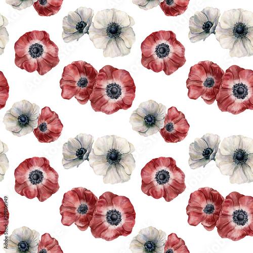 akwarela-anemon-wzor-recznie-malowane-biale-i-czerwone-kwiaty-na-bialym-tle-ilustracja-do-projektowania-tkaniny-drukowania