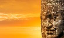 Bayon Face Angkor Wat Cambodia