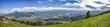 Panorama Blick vom Mittagberg bei Immenstadt in Richtung Sonthofen und Alpen