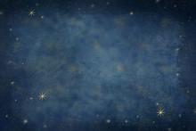 Gold Celestial Stars Backgroun...