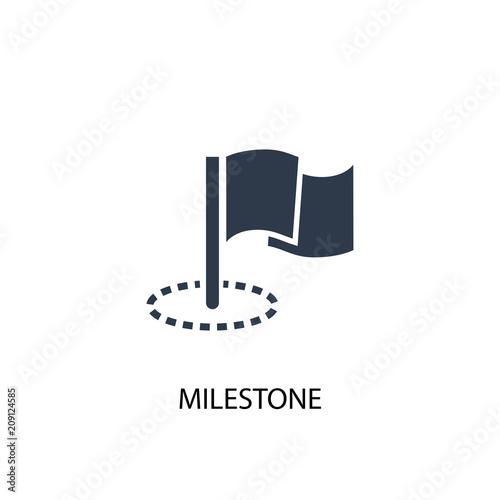 Milestone icon. Simple element illustration Canvas