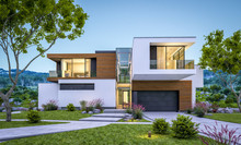 3d Rendering Of Modern House B...