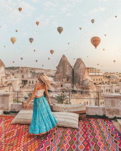 Sunrise dance in Cappadocia Wall mural