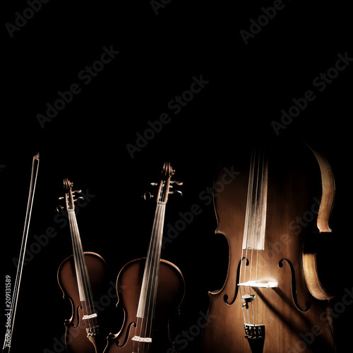 Photographie  String instruments violin and cello