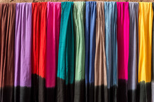 Colorful Scarfs At The Market, Morocco