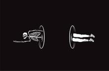 Skull Illustration. Teleporter Of Death.