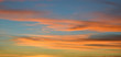 canvas print picture - Wispy clouds at sunset