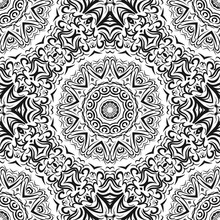 Seamless Monochrome Color Floral Pattern. Abstract Design. Vector Illustration For Wallpaper, Fabric, Print