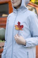 Crop Girl In Coat Posing With ...