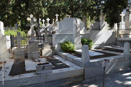 Wall Murals Cemetery necropolis cemetery athens greece statue