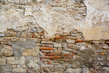 Damaged Wall In An Old Italian Village
