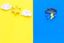 Good And Bad Weather Concept. ...