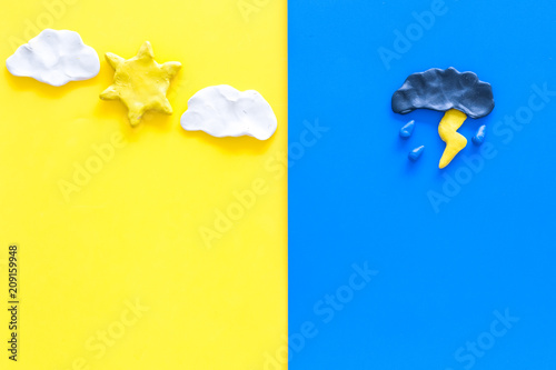 Good and bad weather concept Wallpaper Mural