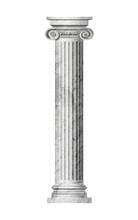 Object Roman Column On A White...