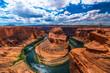 Leinwandbild Motiv アメリカ アリゾナ ホースシューベンド 峡谷