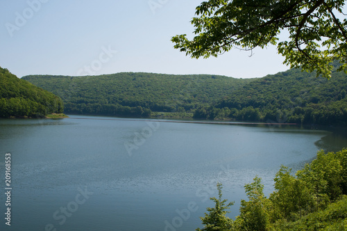 The Allegheny Reservoir in Warren County, Pennsylvania on a clear spring day Canvas Print