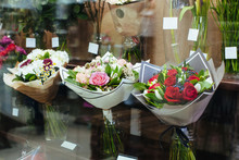 Shop Display With Bouquets Of ...