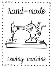 Vintage Sewing Machine Vector ...