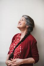 Portrait Of A Senior Woman On ...