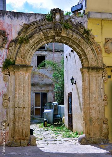 Poster Artistique characteristic historic buildings nardò salento italy