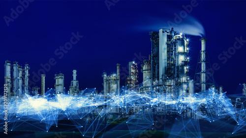 Fotografie, Obraz  工場とネットワーク