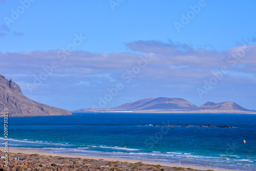Printed kitchen splashbacks Canary Islands Landscape in Tropical Volcanic Canary Islands Spain