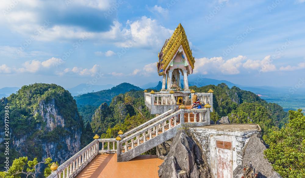 Fototapety, obrazy: The top of  Tiger Cave temple, (Wat Tham Suea), Krabi region, Thailand