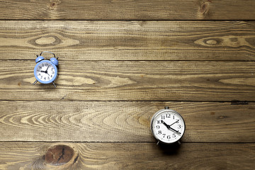 two alarm clocks