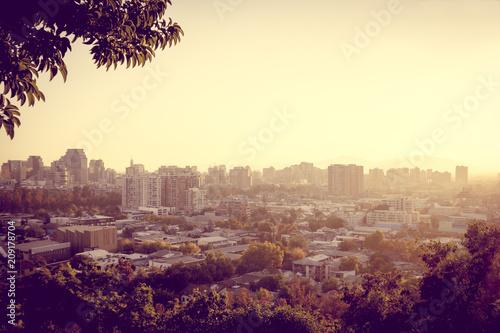 In de dag Centraal-Amerika Landen Santiago city aerial view, Chile
