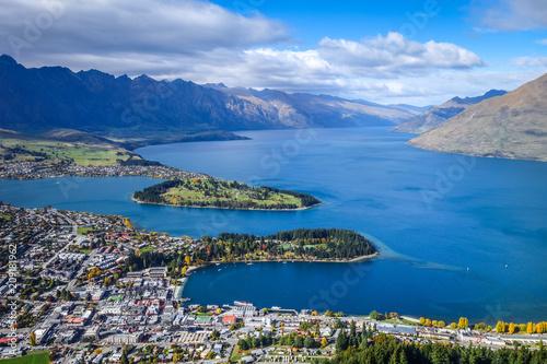 Papiers peints Océanie Lake Wakatipu and Queenstown, New Zealand