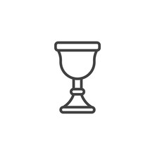Chalice Outline Icon. Linear S...