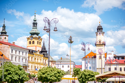 Fotobehang Centraal Europa Old city center in Banska Bystrica city during the sunny weather in Slovakia