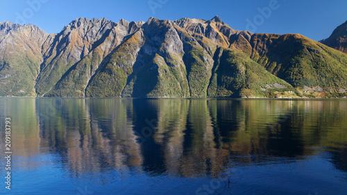 Papiers peints Scandinavie The Hjorundfjord and the Sunnmore Alps