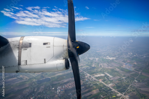 Amazing Propeller And Engine Of Vintage Airplane Seen Through An Pabps2019 Chair Design Images Pabps2019Com