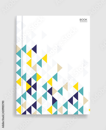 magazine book template background with cover of geometric pattern