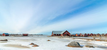 Fishing Huts In Finland In Win...