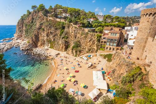 Tossa del Mar, la plagette d'El Codolar et les calanques, Costa Brava, Espagne