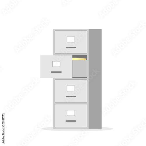 Fotomural File cabinet with four drawer